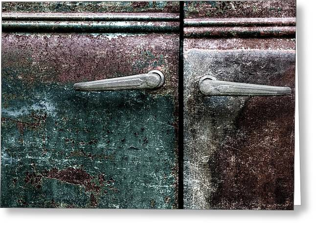 Old Car Weathered Paint Greeting Card