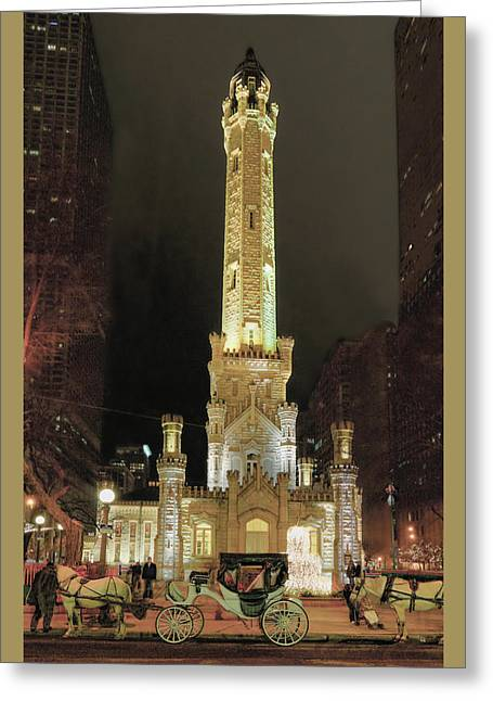 Old Chicago Water Tower Greeting Card