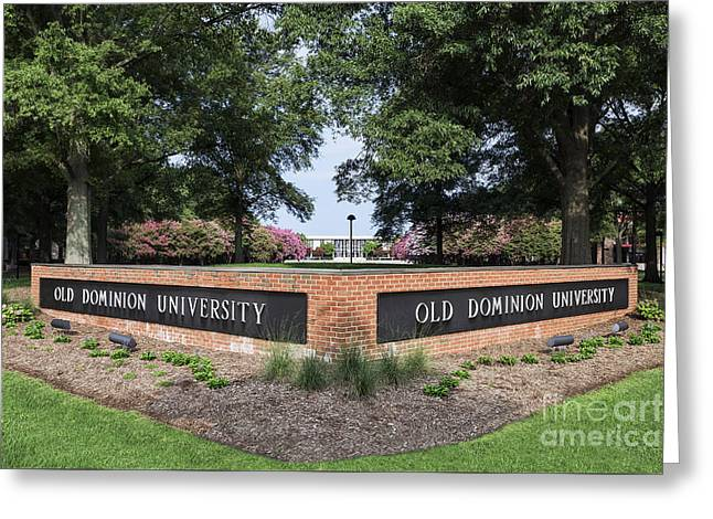 Old Dominion University Greeting Card by John Greim