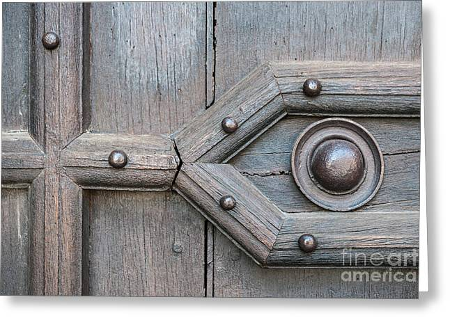 Old Door Detail Greeting Card by Elena Elisseeva