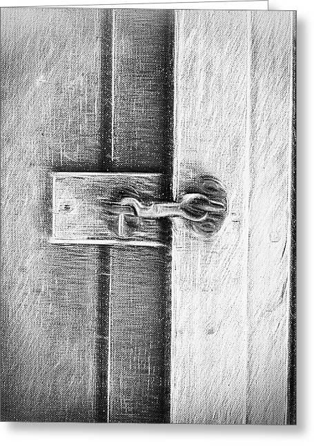 Old Door Latch Greeting Card by Tom Gowanlock