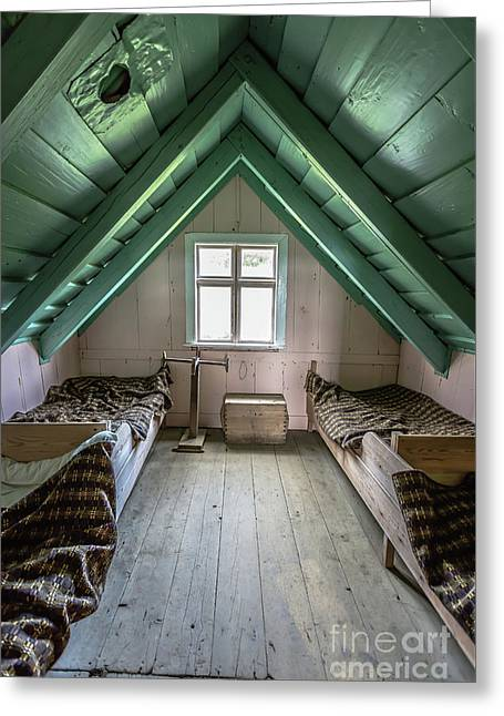 Old Farmhouse Interior Iceland Greeting Card