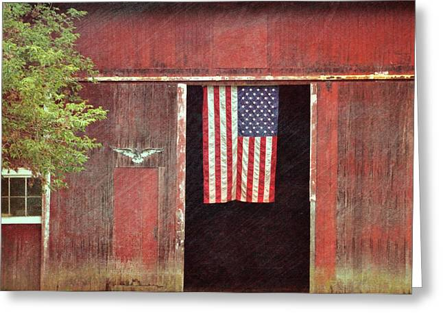 Old Glory Greeting Card by JAMART Photography
