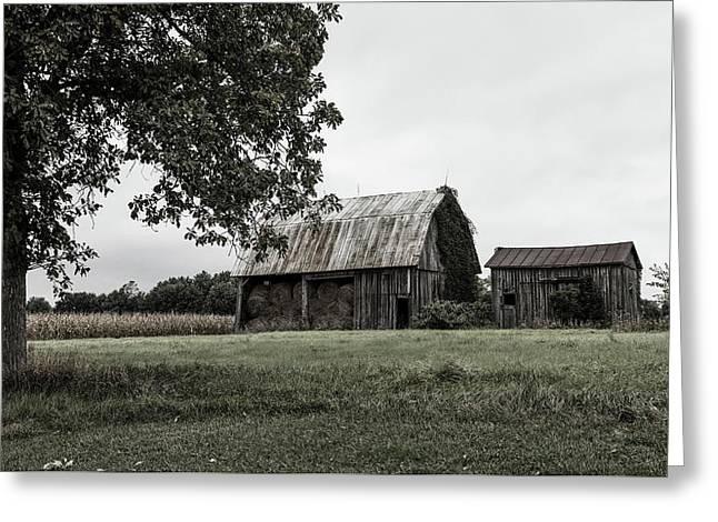 Old Hay Barn - Indiana Greeting Card