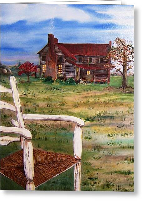 Old Home  Greeting Card by Penny Everhart