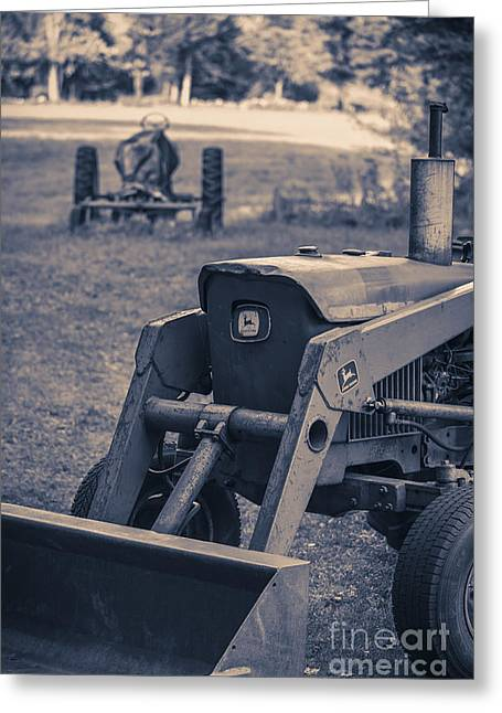 Old John Deere Tractor Greeting Card