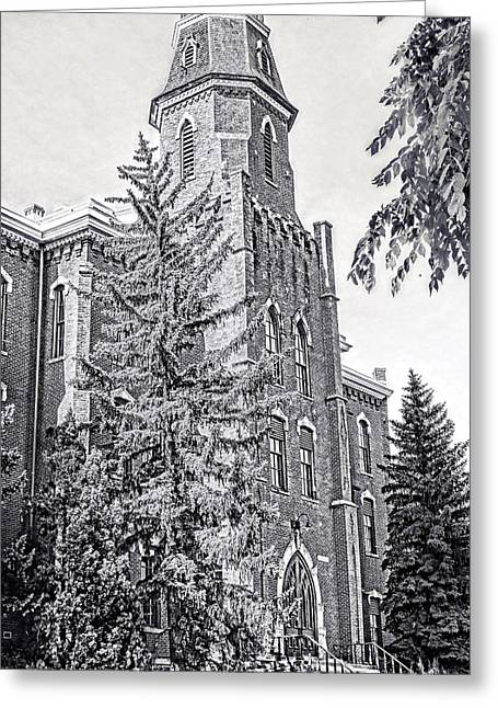 Old Main University Of Colorado Boulder Greeting Card by Ann Powell