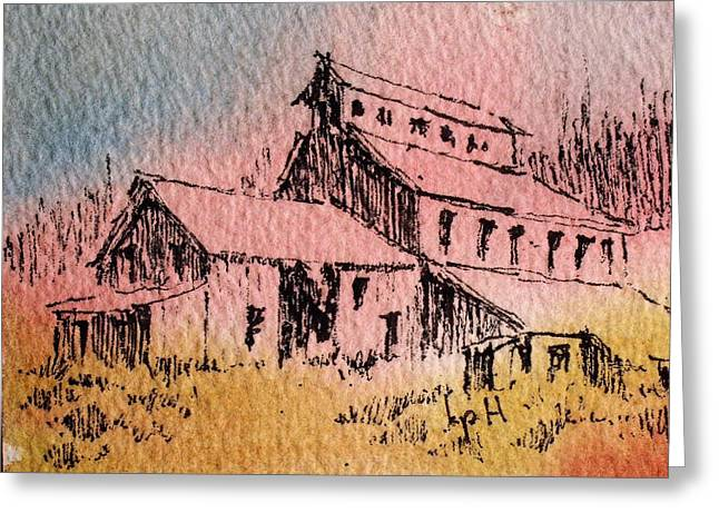 Old Mill Cable Ghost Town Montana_ Greeting Card by Kevin Heaney