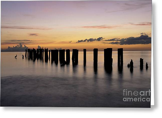 Greeting Card featuring the photograph Old Naples Pier by Kelly Wade