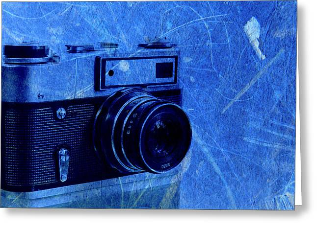 Old Photo Camera Greeting Card by Boyan Dimitrov
