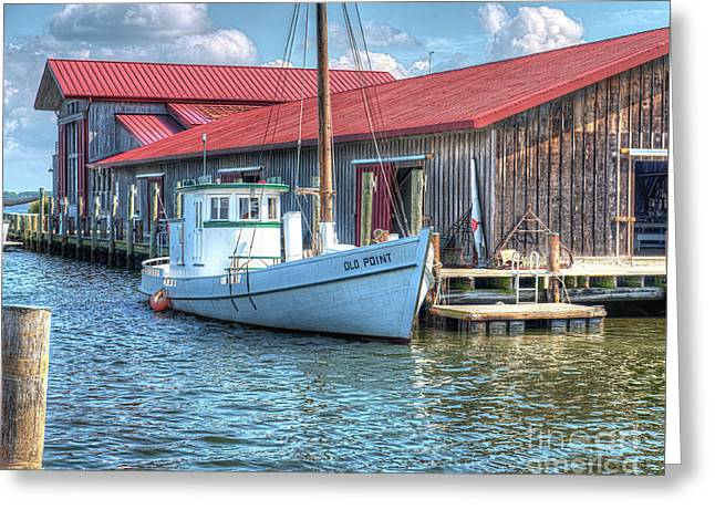 Old Point Crabbing Boat Greeting Card by Greg Hager