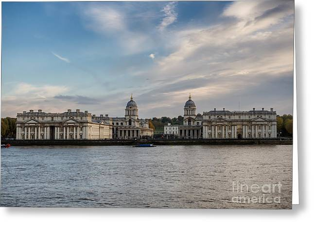 Old Royal Naval College In Greenwich Village, London Greeting Card by Frank Bach