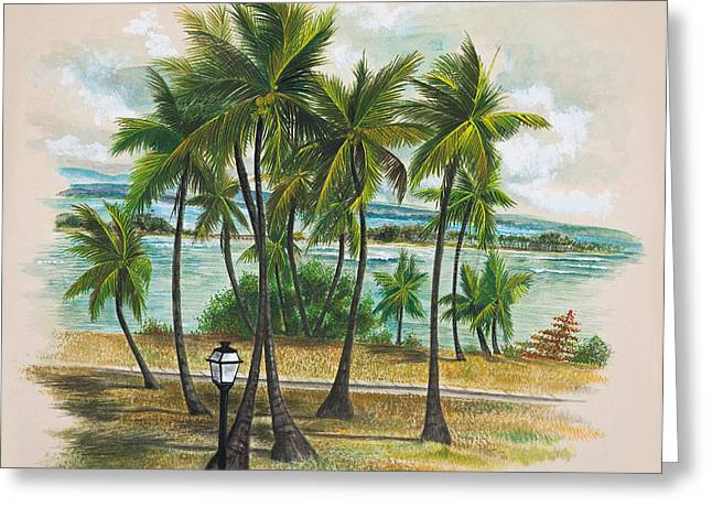 Old San Juan - Morro Greeting Card by George Bloise