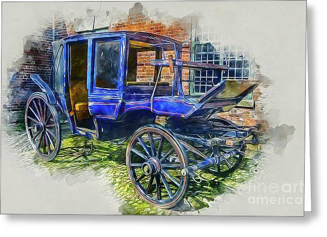 Old Stagecoach Greeting Card