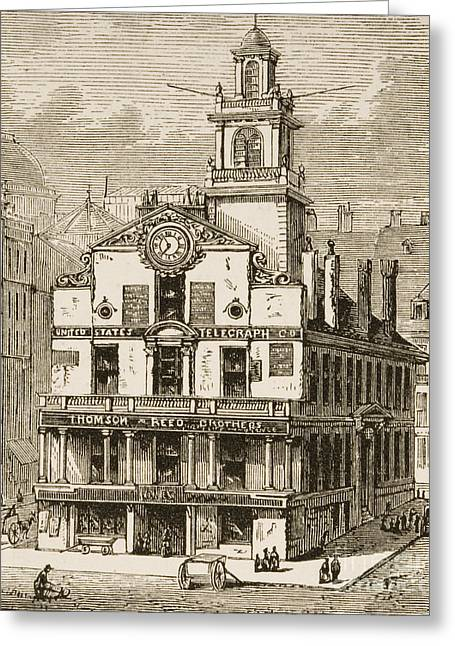 Old State House, Boston Greeting Card