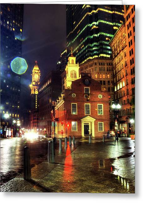 Greeting Card featuring the photograph Old State House - Boston by Joann Vitali