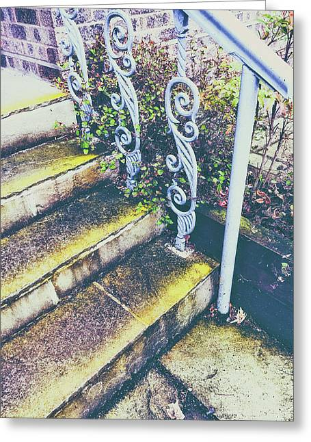 Old Stone Steps Greeting Card