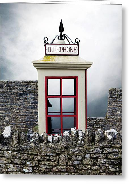 Old Telephone Booth Greeting Card by Joana Kruse