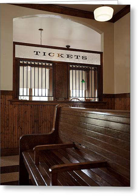 Old Time Train Station Greeting Card