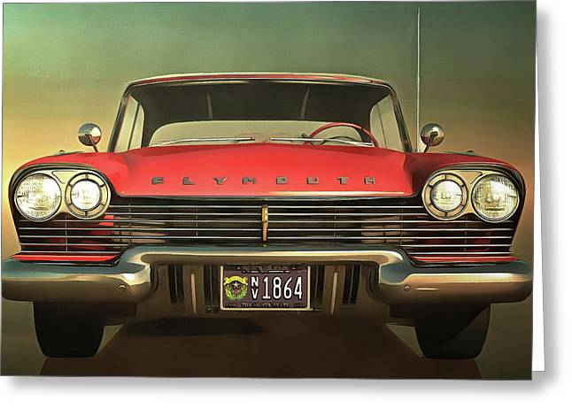 Old-timer Plymouth Greeting Card