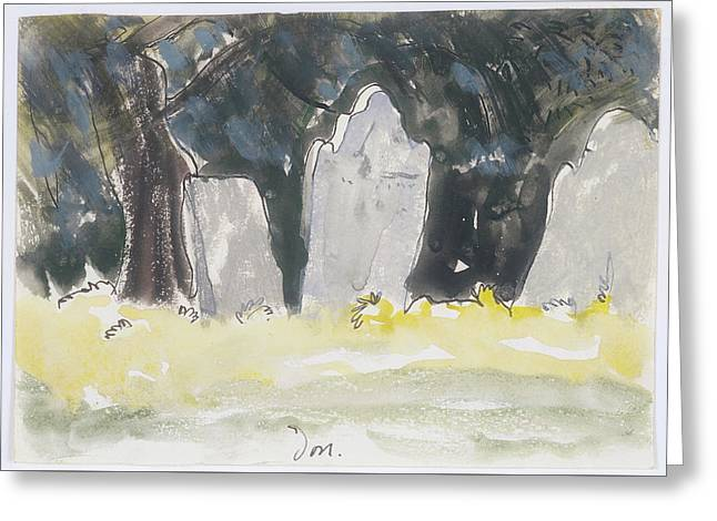 Old Tombstones Greeting Card