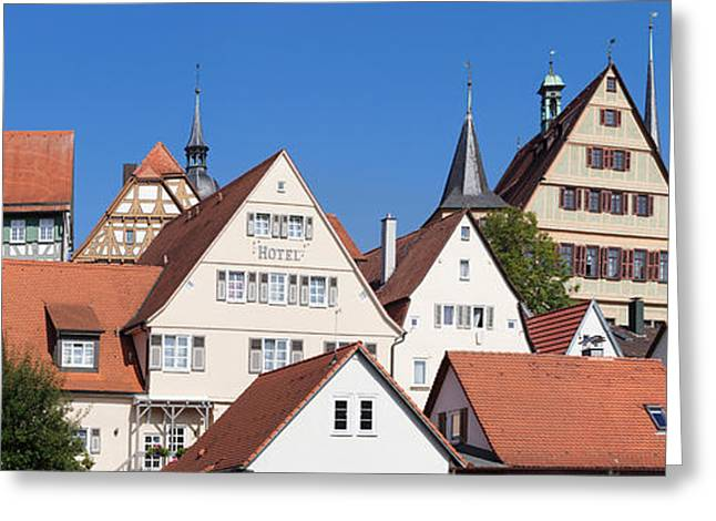 Old Town With Half-timbered Houses Greeting Card
