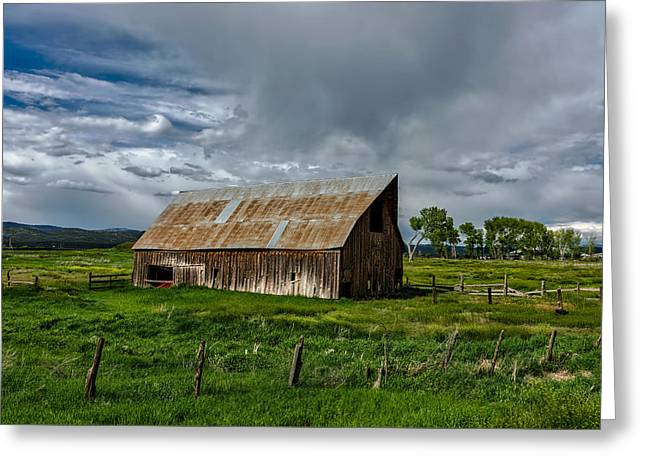 Old Weathered Barn Greeting Card by Mountain Dreams