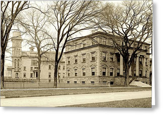 On The Campus Of Yale C1907 Greeting Card by L O C