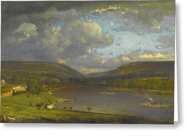 On The Delaware River Greeting Card by George Inness
