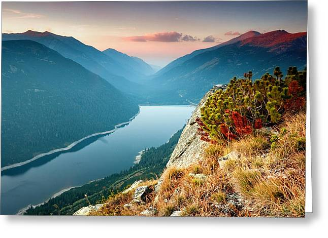 Lake Greeting Cards - On the Edge Of the World Greeting Card by Evgeni Dinev