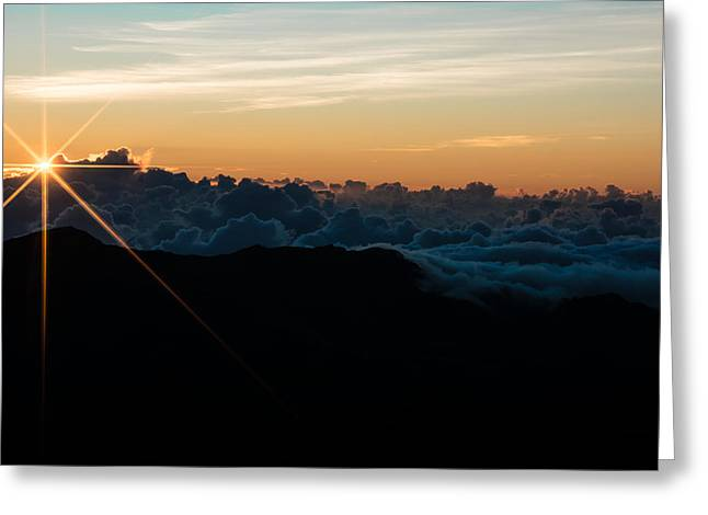 Greeting Card featuring the photograph On Top Of The World by Colleen Coccia
