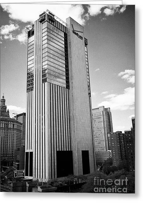 One Brooklyn Bridge Plaza Telecom Office Building New York City Usa Greeting Card