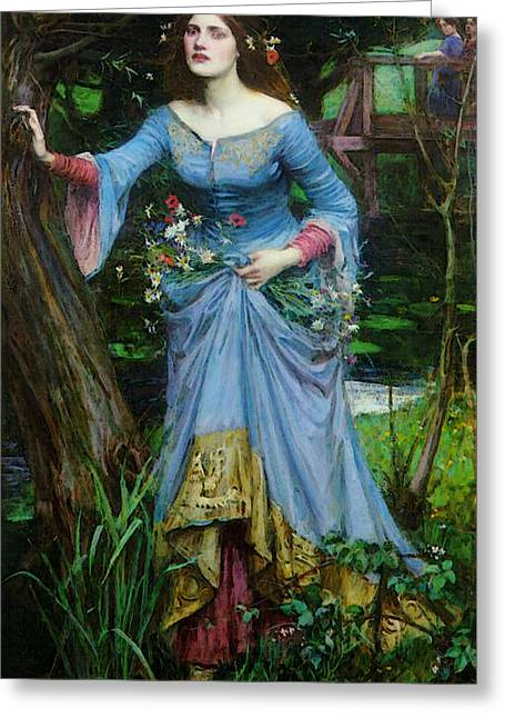 Ophelia Greeting Card by John William Waterhouse