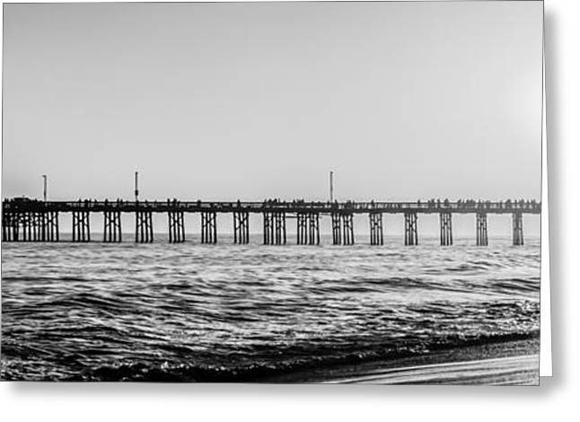 Orange County California Pier Panorama Picture Greeting Card by Paul Velgos
