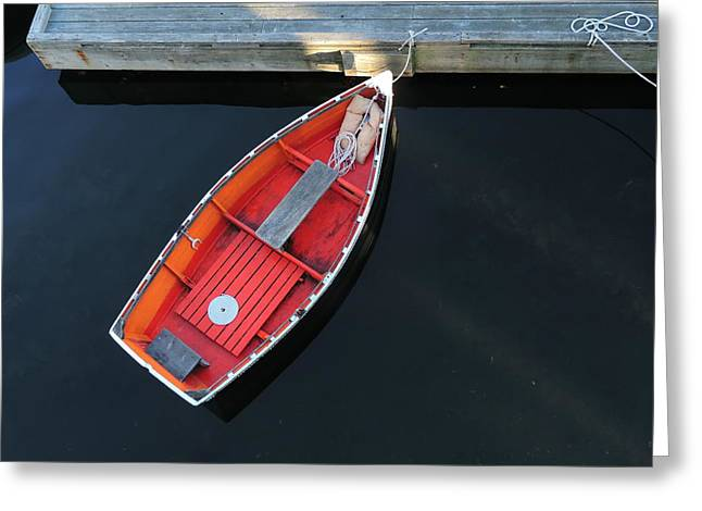 Orange Dinghy Greeting Card