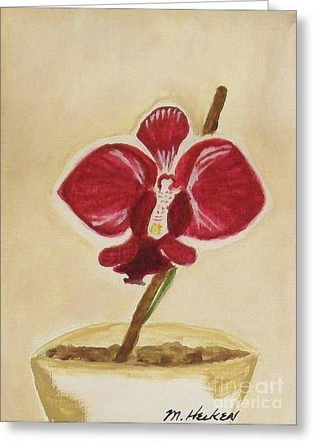 Orchid Greeting Card by Marsha Heiken