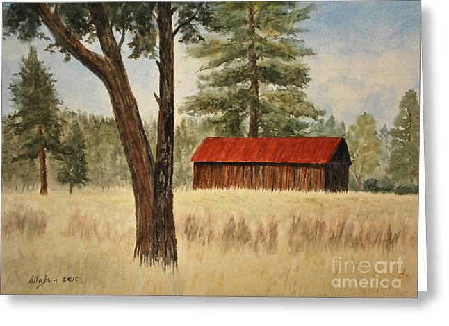 Oregon Barn Greeting Card