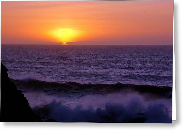 Oregon Sunset Greeting Card by Scott Gould