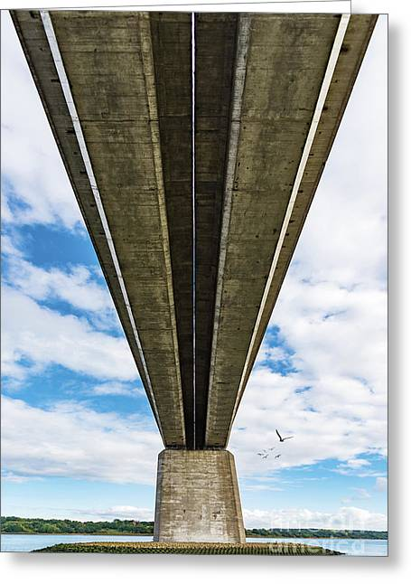 Orwell Bridge Greeting Card by Svetlana Sewell