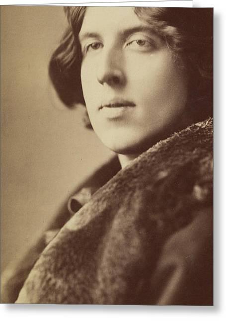 Oscar Wilde, 1882 Greeting Card by Napoleon Sarony