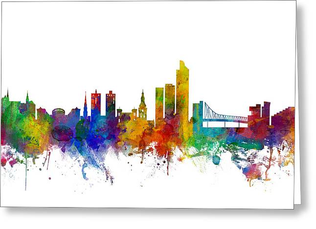 Oslo Norway Skyline Greeting Card by Michael Tompsett