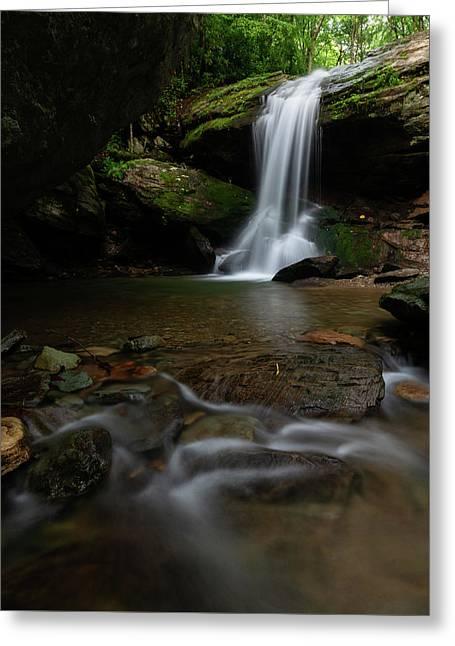 Otter Falls - Seven Devils, North Carolina Greeting Card