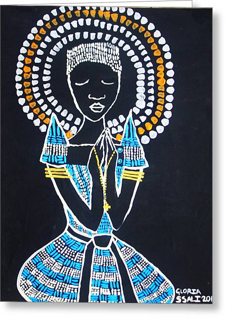 Our Lady Of Africa Greeting Card by Gloria Ssali