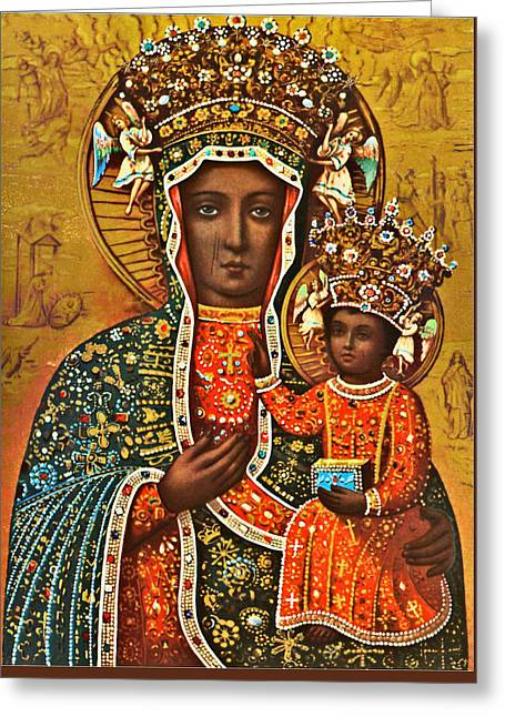 Our Lady Of Czestochowa Black Madonna Poland Greeting Card by Magdalena Walulik