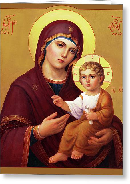 Our Lady Of The Way - Virgin Hodegetria Greeting Card