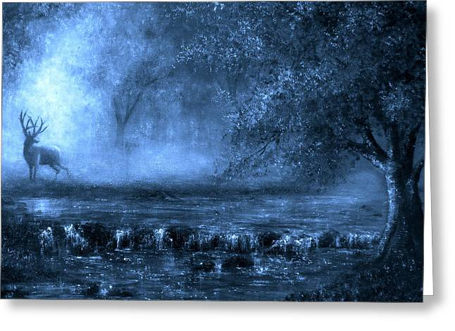 Out Of The Blue Greeting Card by Ann Marie Bone