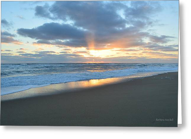 Greeting Card featuring the photograph Outer Banks Sunrise  by Barbara Ann Bell