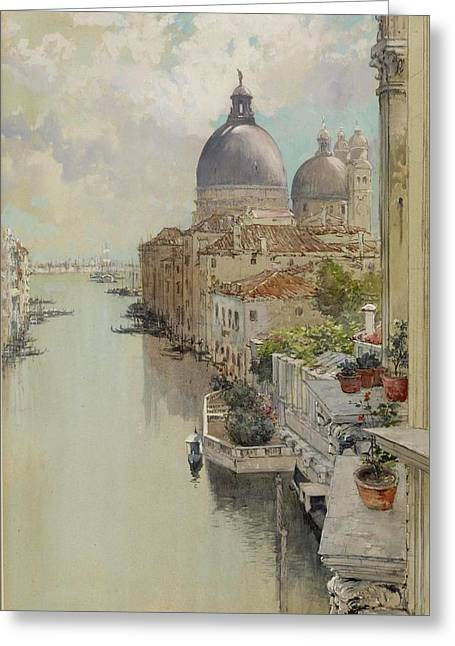 Over A Balcony Greeting Card by Francis Hopkinson