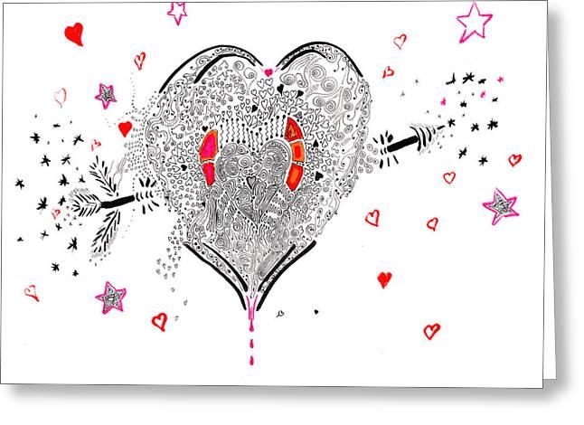Overflowing Love Greeting Card by Regina Valluzzi