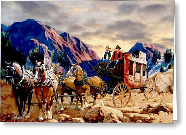 Overland Trail 2 Greeting Card